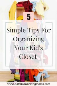 Does organizing your kids' clothes every year seem overwhelming? Find out how to manage storing clothes and keep them organized all year with these 5 simple tips. #organizing