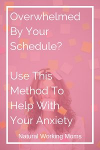 Need a tool to help control your anxiety? It can be easy to get overwhelmed with our schedules as moms. Check out this easy way to control the overwhelm and anxiety and still make sure everything gets done.