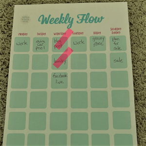 weekly flow chart for anxious moms